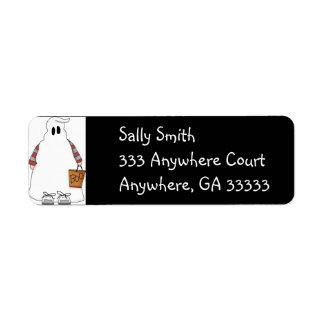 Halloween gobblin return address label