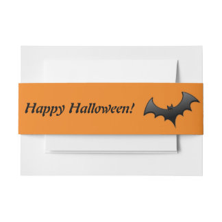 Halloween Gone Batty Invitation Belly Band