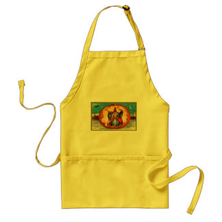 Halloween Good Wishes Witch Standard Apron