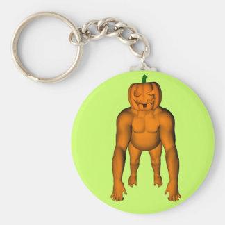 Halloween Gorilla Basic Round Button Key Ring