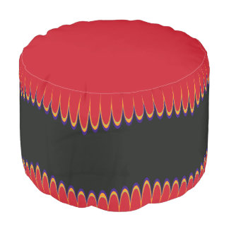 Halloween Gothic Carnival Wave Pouf