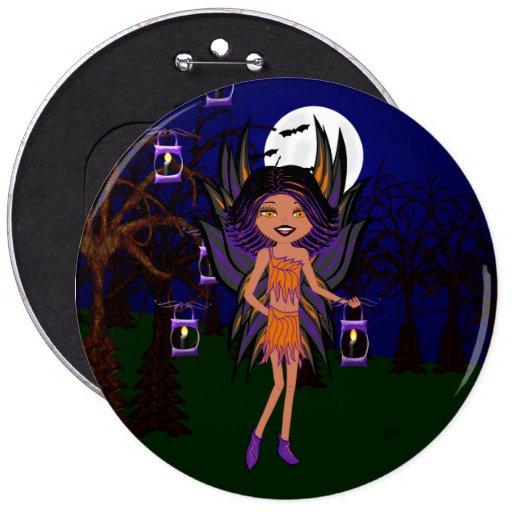 Halloween Gothic Faery Phoenix Hallow Button