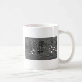 Halloween Grave Yard with Tombstones Mugs