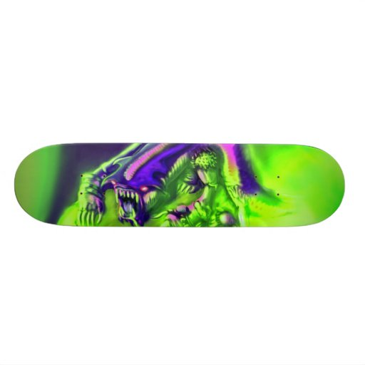 Halloween Graveyard Monster Skateboard