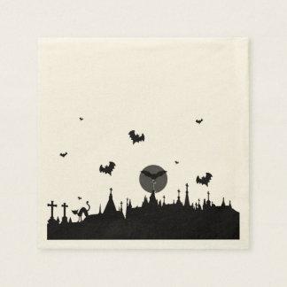 Halloween Graveyard Paper Napkins