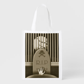 Halloween Graveyard R.I.P. Trick Or Treat Bag Reusable Grocery Bag