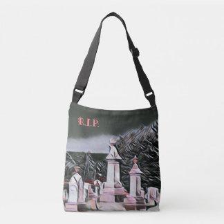 Halloween Graveyard RIP Trick Or Treat Crossbody Bag