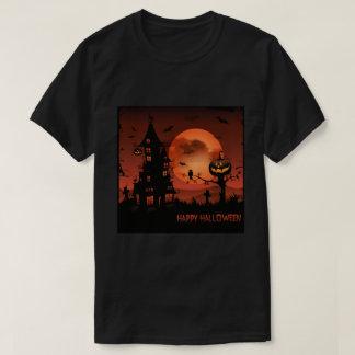 Halloween graveyard scenes pumpkin bats moon T-Shirt