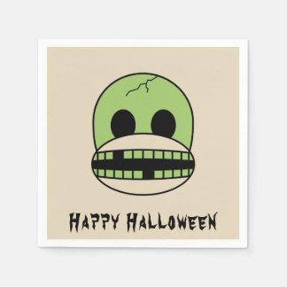 Halloween Green Monster Sock Monkey Party Napkin Disposable Serviette
