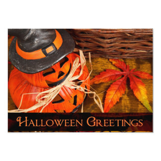 Halloween Greetings 13 Cm X 18 Cm Invitation Card