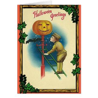 Halloween greetings greeting card