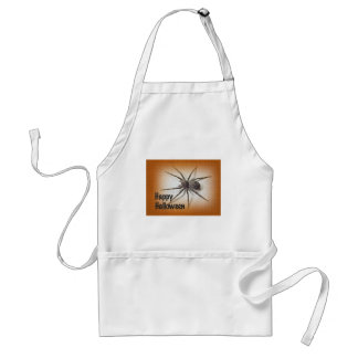 Halloween Greetings - Dolomedes tenebrosus Spider Adult Apron