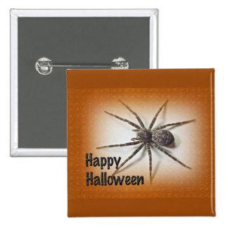 Halloween Greetings - Dolomedes tenebrosus Spider Button