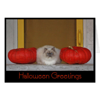 """Halloween Greetings"" greeting card"