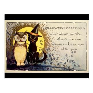 Halloween Greetings Postcard