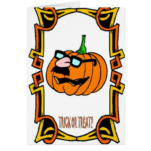 Halloween greetings, Trick or treat Cards