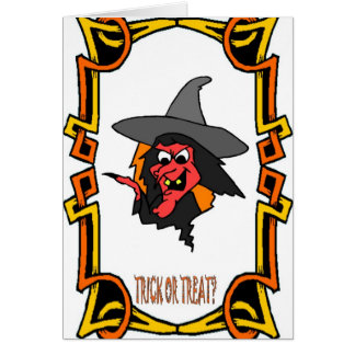 Halloween greetings Trick or treat Cards