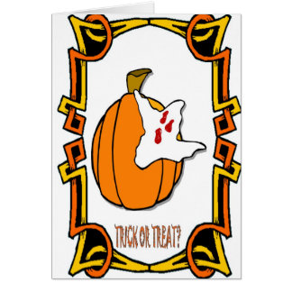 Halloween greetings Trick or treat Greeting Card