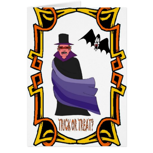 Halloween greetings, Trick or treat Card