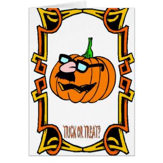 Halloween greetings, Trick or treat Greeting Card