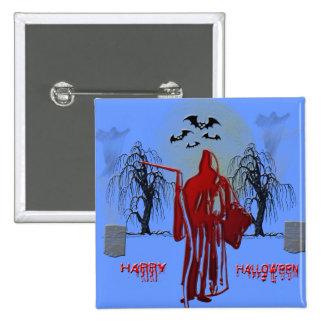 Halloween Grim Reaper Pinback Buttons