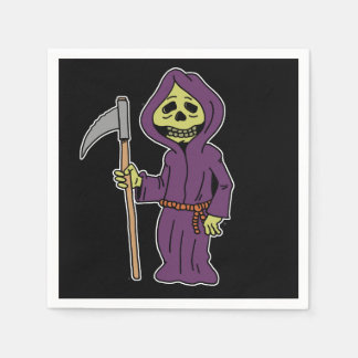 Halloween Grim Reaper Cartoon Napkins Disposable Napkins