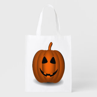 Halloween Happy and Scary Jack O' Lantern Bag