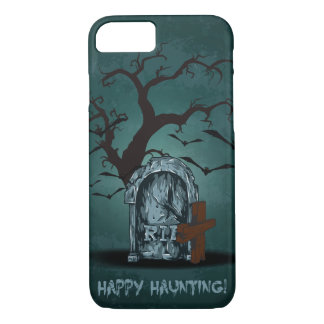 Halloween happy haunting grave RIP dead tree, bats iPhone 7 Case