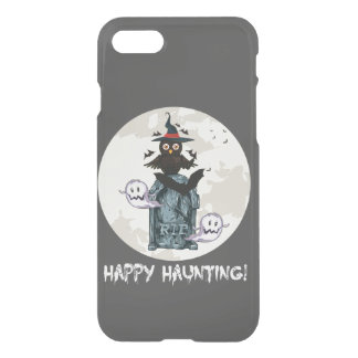 Halloween happy haunting owl and grave iPhone 7 case