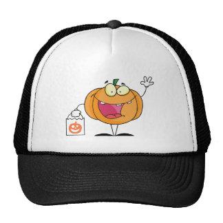Halloween Happy Pumkin With Bag Trucker Hat