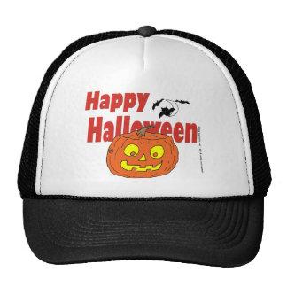 HALLOWEEN Happy Pumpkin Mesh Hats