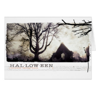 Halloween Haunted gothic cemetary photograph Card