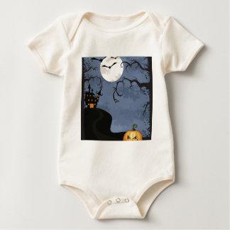 Halloween Haunted House Baby Bodysuit