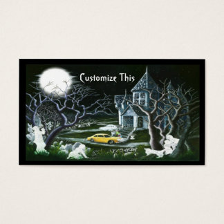 Halloween,haunted house,business card