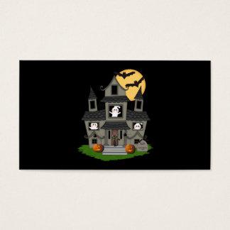 Halloween Haunted House Business Card