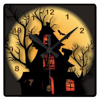 Halloween Haunted House Clocks