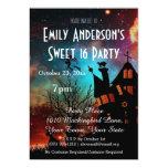 Halloween Haunted House Costume Sweet 16 Birthday 13 Cm X 18 Cm Invitation Card