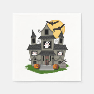 Halloween Haunted House Disposable Napkins