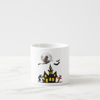 Halloween Haunted House Espresso Mug