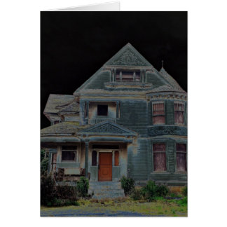 Halloween- Haunted House Greeting Card