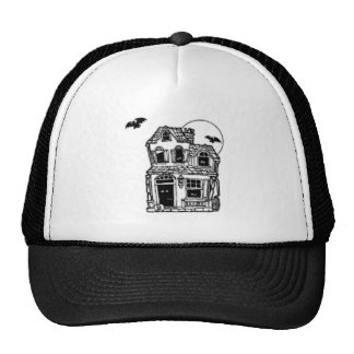 Halloween Haunted House Mesh Hats