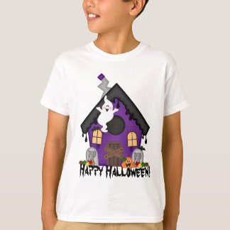 Halloween Haunted House kids Holiday t-shirt