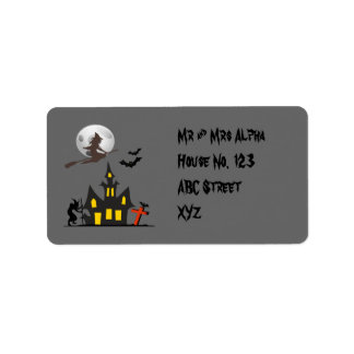 Halloween Haunted House Label Address Label