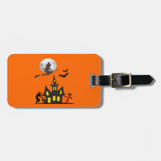 Halloween Haunted House Luggage Tag