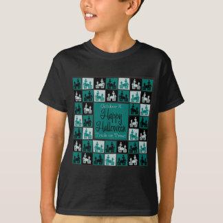 Halloween haunted house mosaic T-Shirt