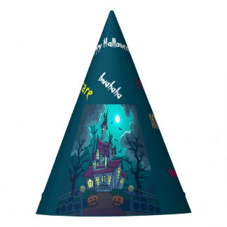 Halloween Haunted House Party Hat