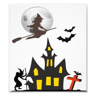 Halloween Haunted House Photo Print