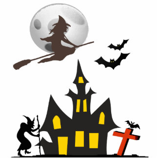 Halloween Haunted House Photo Sculpture
