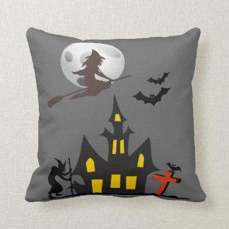 Halloween Haunted House Pillows Throw Cushion