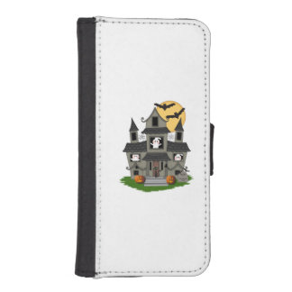 Halloween Haunted House iPhone 5 Wallet Cases